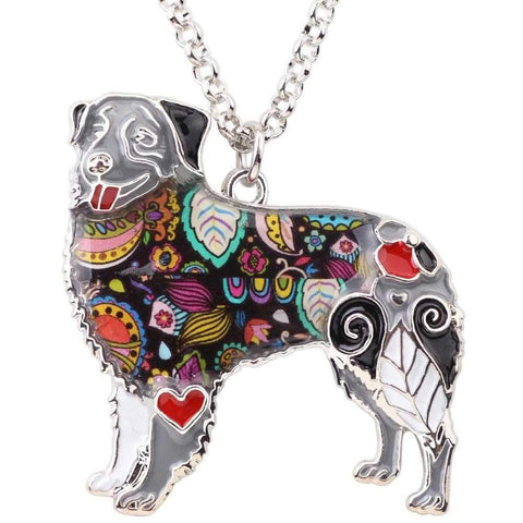 Pop Art Collection - Australian Shepherd Pendant Necklace-DoggyTopia