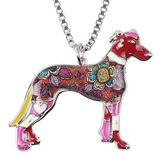 Pop Art Collection - Greyhound Pendant Necklace-DoggyTopia
