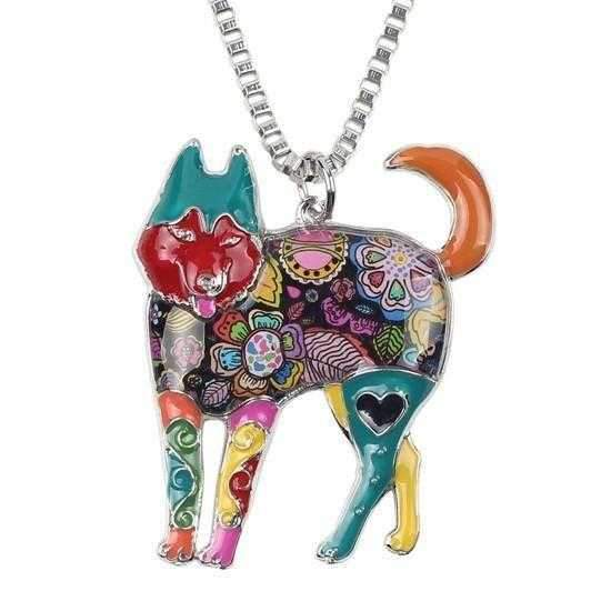 Pop Art Collection - Husky Pendant Necklace-DoggyTopia