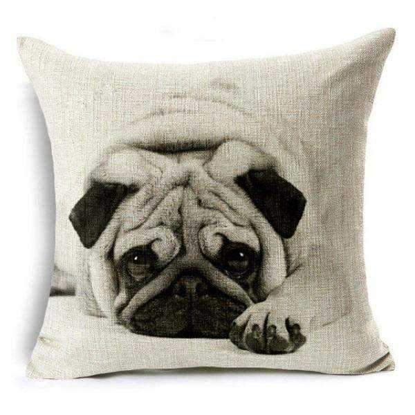 Pug Throw Cushion-DoggyTopia