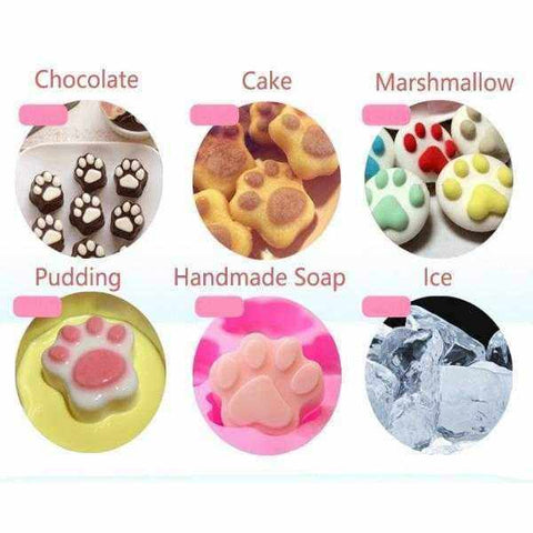 Image of Small Paw Silicone Mould Ice Cube Trays-DoggyTopia