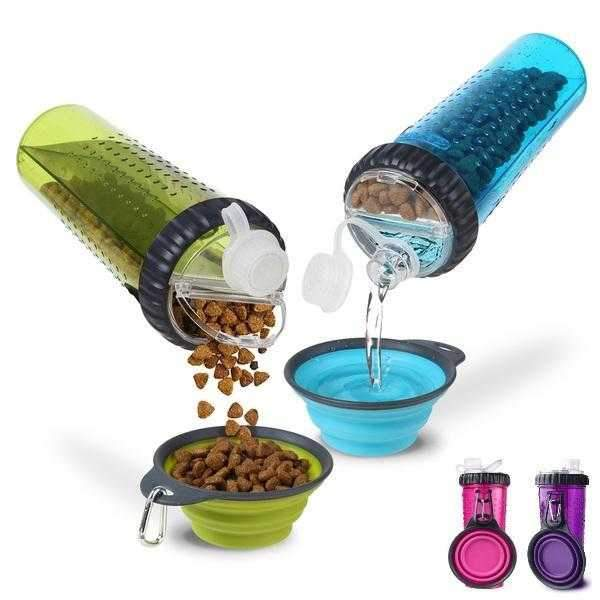 Snack Duo With Collapsible Bowl-DoggyTopia
