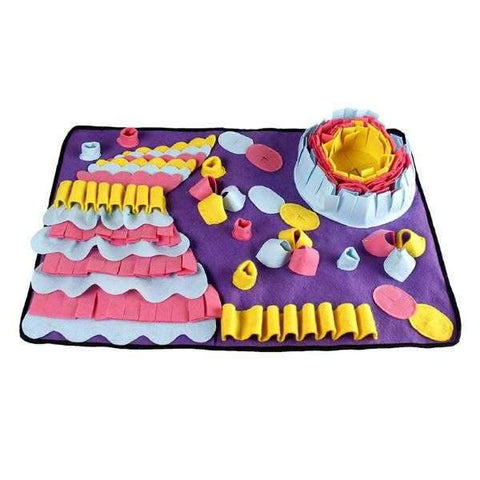 Image of Snuffle Mat with Slow Feeding Bowl-DoggyTopia