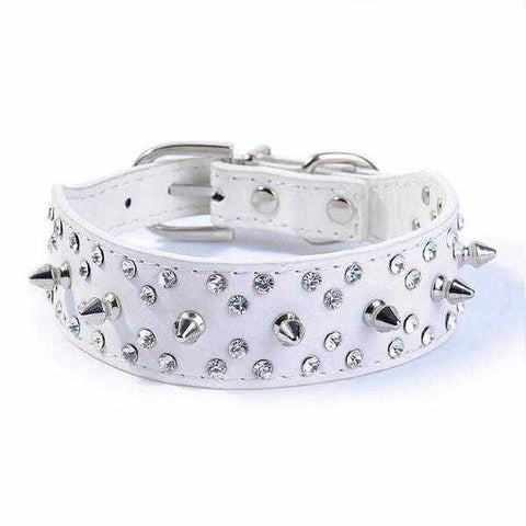Image of Spike Rhinestone studded Dog Collar-DoggyTopia