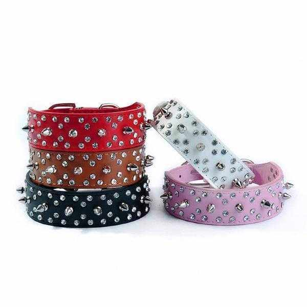 Spike Rhinestone studded Dog Collar-DoggyTopia