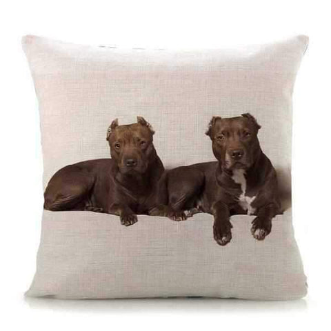 Staffies Throw Cushion-DoggyTopia