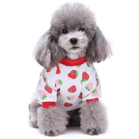Image of Strawberry Dreams Dog Pajamas-DoggyTopia