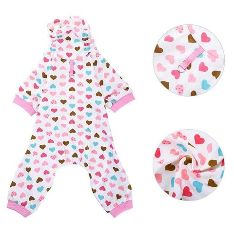 Image of Sweet Heart Dog Pajamas-DoggyTopia