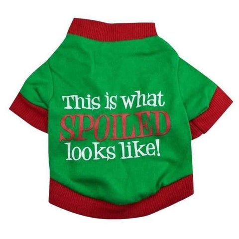 This is what Spoiled looks like Christmas Dog T Shirt-DoggyTopia