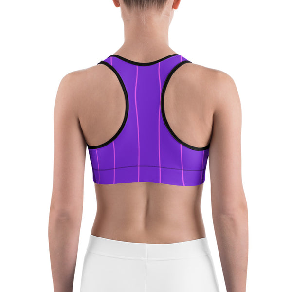 Pinstripe Sports bra