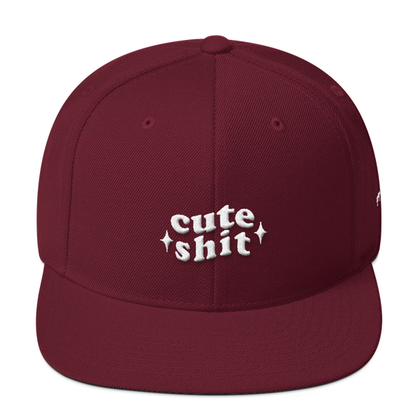 Cute Shit Snap Back Hat