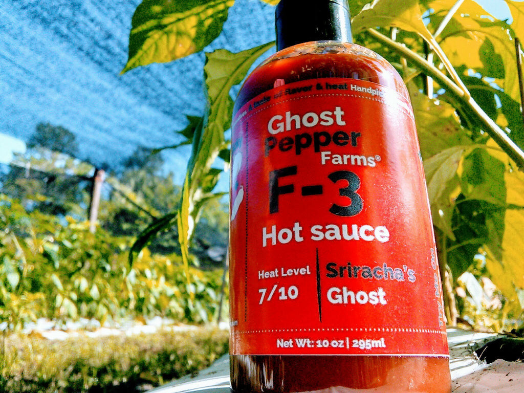 Sriracha's Ghost - Ghost pepper hot sauce 10oz bottle