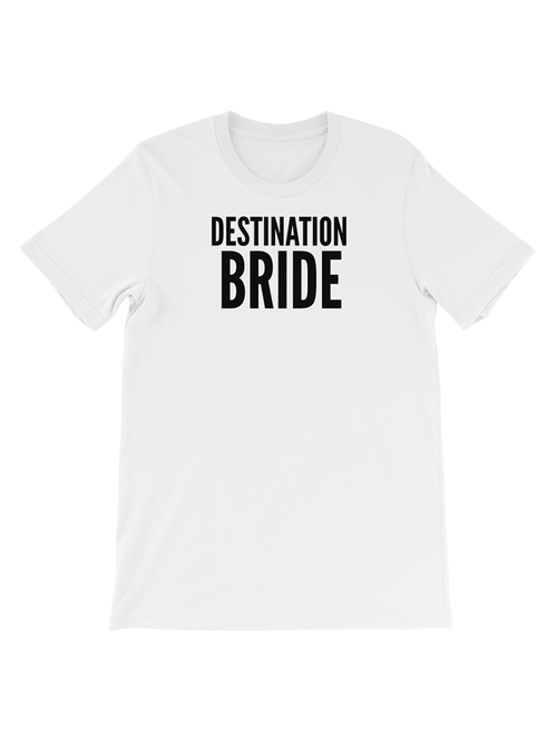 DESTINATION BRIDE TEE - WHITE