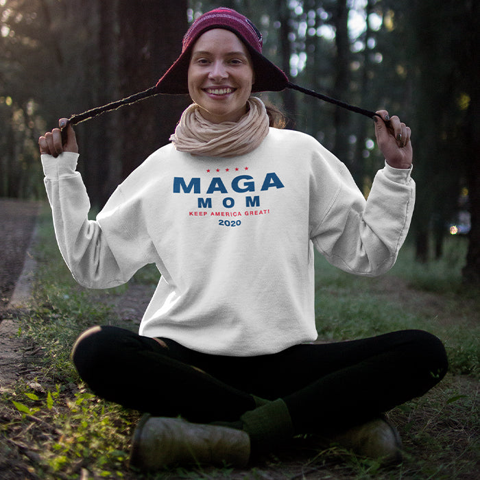 MAGA White Crewneck Sweat Shirt