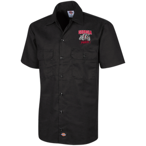 Georgia Proud Dickies Men's Short Sleeve Workshirt