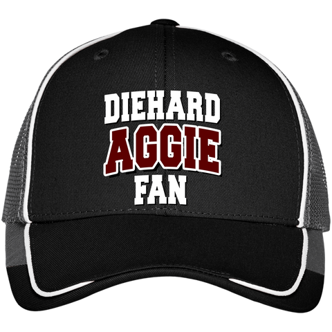 DieHard Aggie Fan Port Authority Colorblock Mesh Back Cap