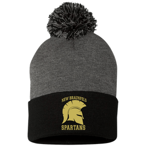 Spartans Sportsman Pom Pom Knit Cap