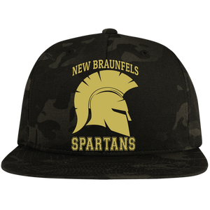 Spartans Sport-Tek Flat Bill High-Profile Snapback Hat