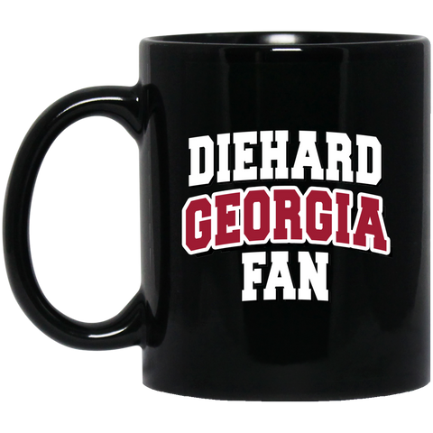 Diehard Georgia Fan 11 oz. Black Mug