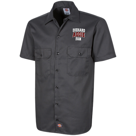 DieHard Aggie Fan Dickies Men's Short Sleeve Workshirt