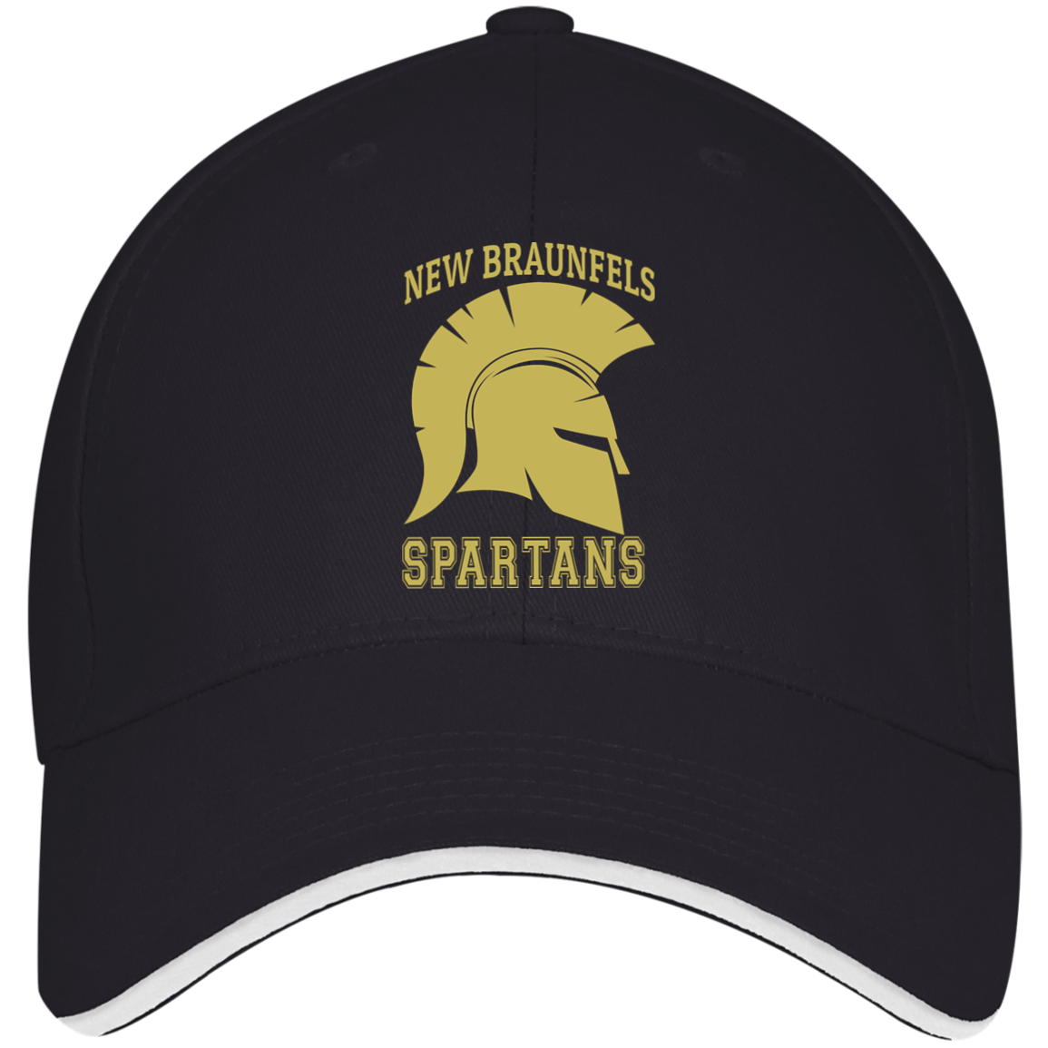 Spartans USA Made Structured Twill Cap With Sandwich Visor