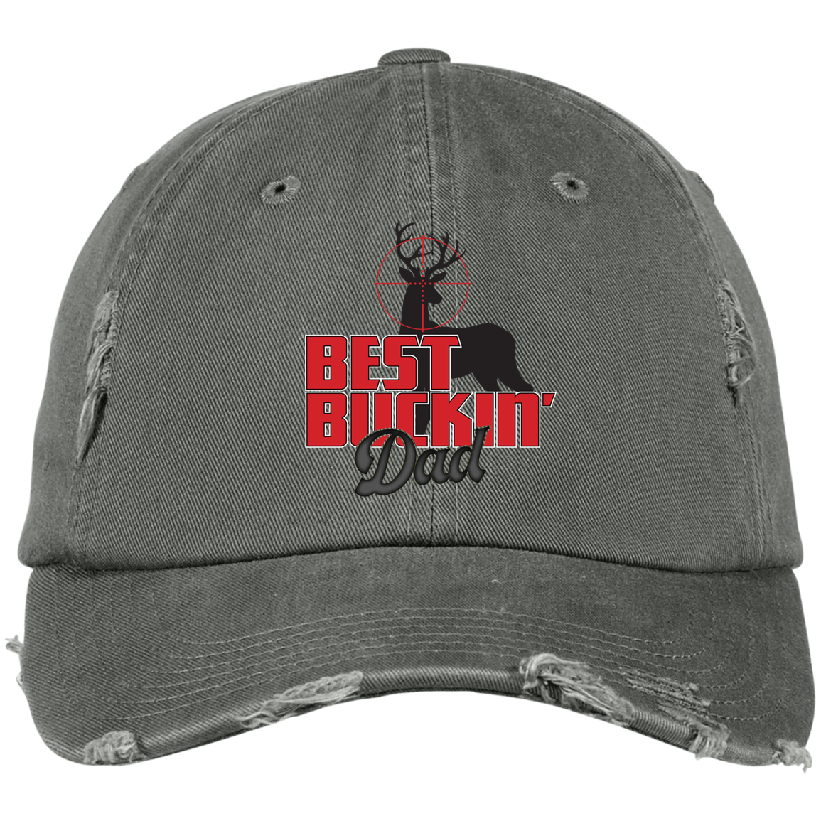 Best Buckin Dad District Distressed Dad Cap