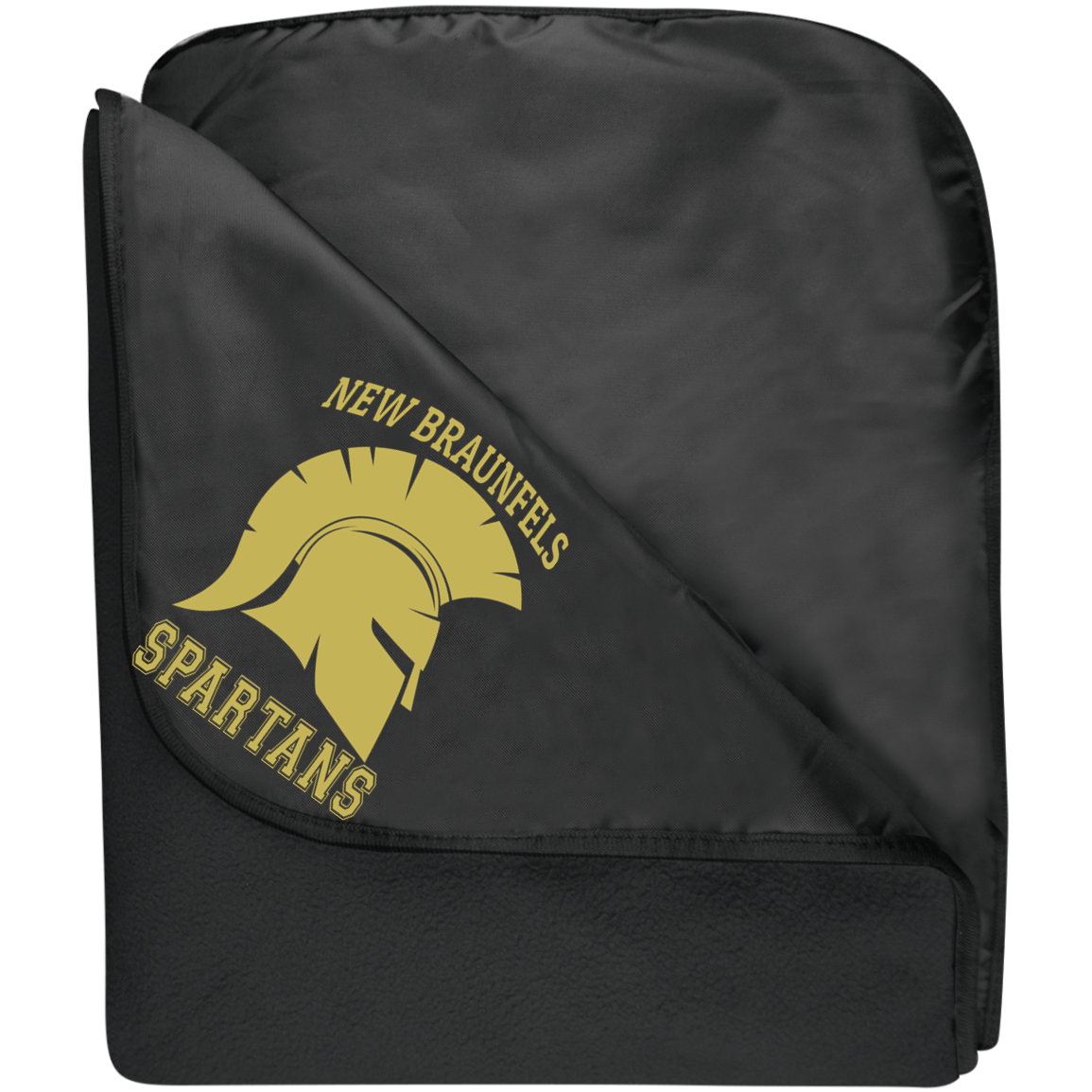 Spartans Port Authority Fleece & Poly Travel Blanket