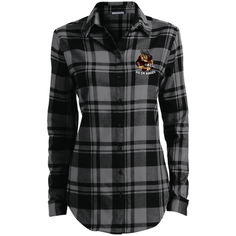 Gig Em Aggies Port Authority Ladies' Plaid Flannel Tunic