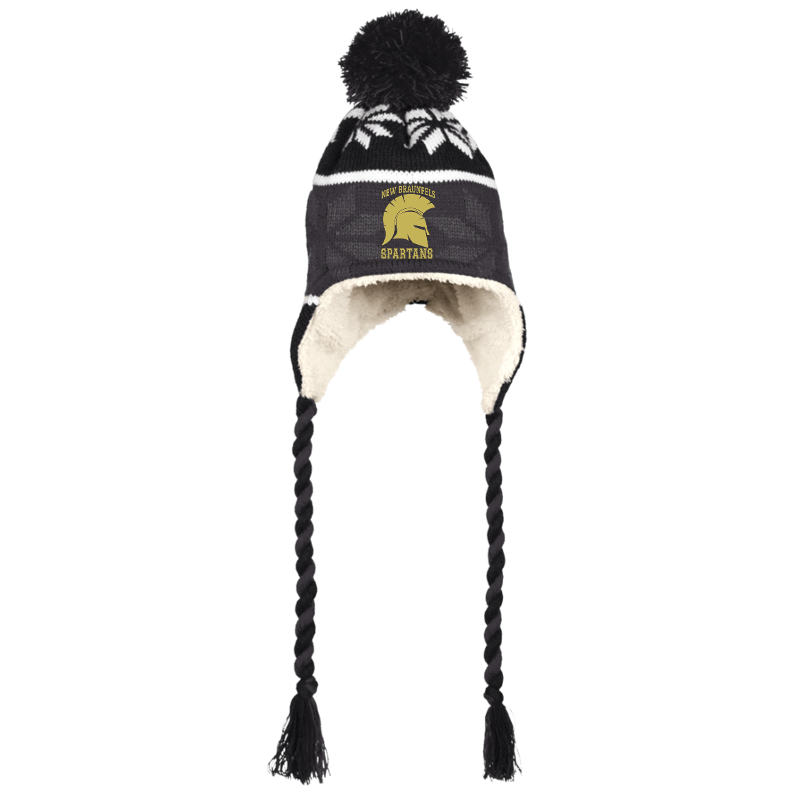 Spartans Holloway Hat with Ear Flaps and Braids