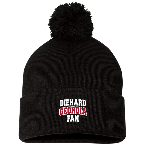 Diehard Georgia Fan Sportsman Pom Pom Knit Cap
