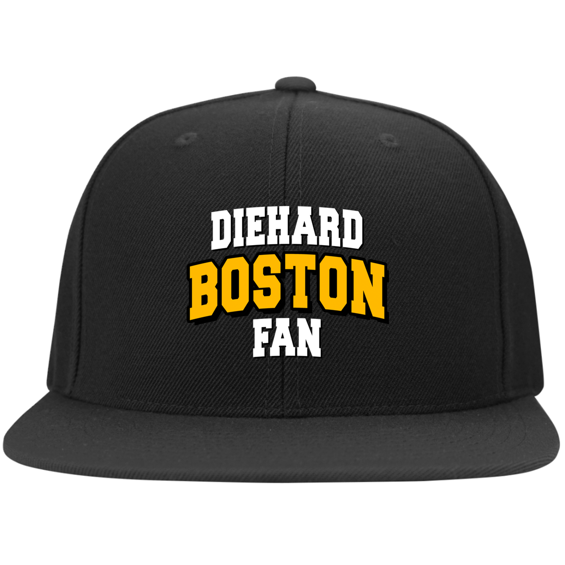 Boston Yupoong Flat Bill Twill Flexfit Cap