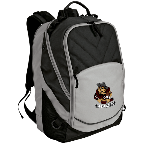 Gig Em Aggies Port Authority Laptop Computer Backpack