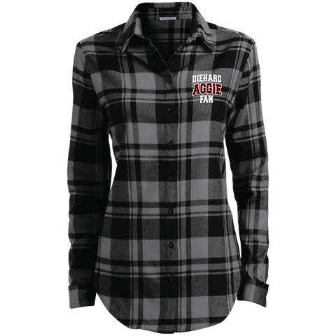 DieHard Aggie Fan Port Authority Ladies' Plaid Flannel Tunic