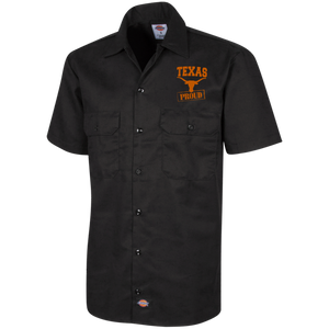 Texas Team Proud Dickies Men's Short Sleeve Workshirt