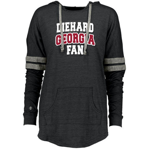 Diehard Georgia Fan Holloway Ladies Hooded Low Key Pullover