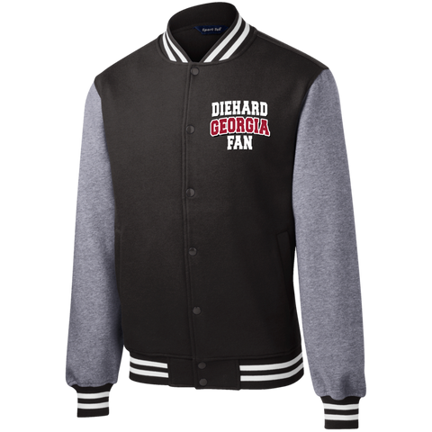 Diehard Georgia Fan Sport-Tek Fleece Letterman Jacket
