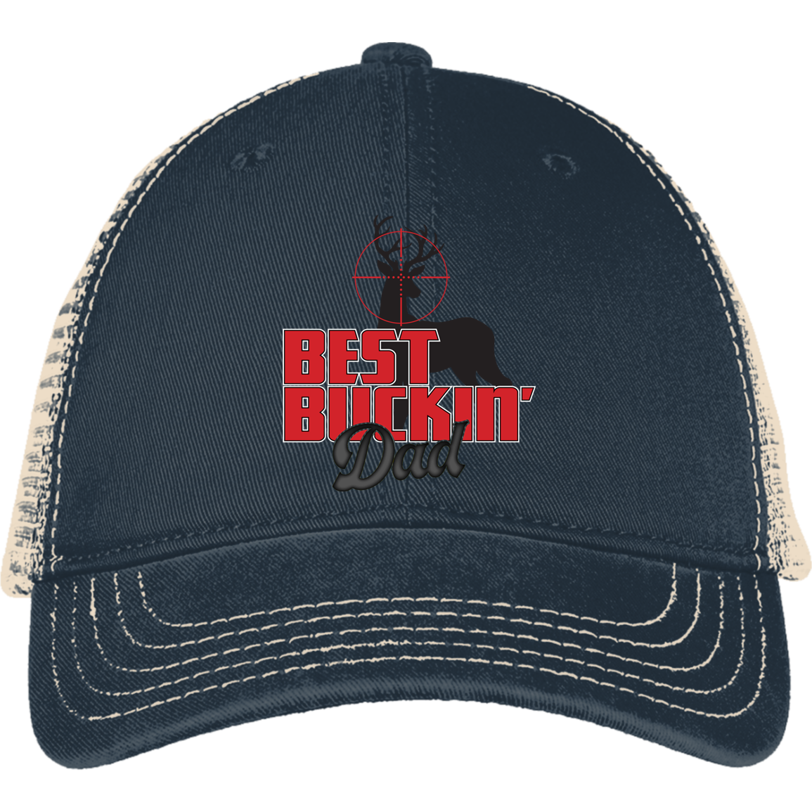 Best Buckin Dad District Mesh Back Cap