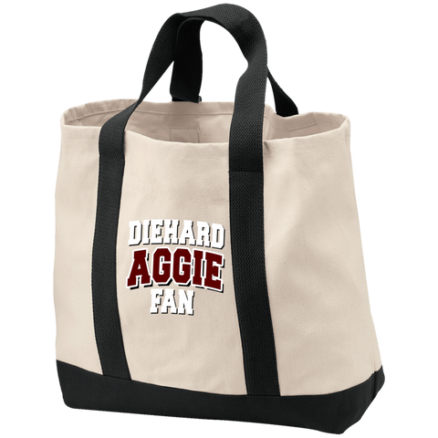 Diehard Aggie Fan Port & Co. 2-Tone Shopping Tote