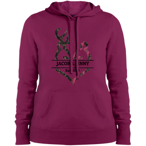 Loving Hunting Couple Sport-Tek Ladies' Pullover Hooded Sweatshirt