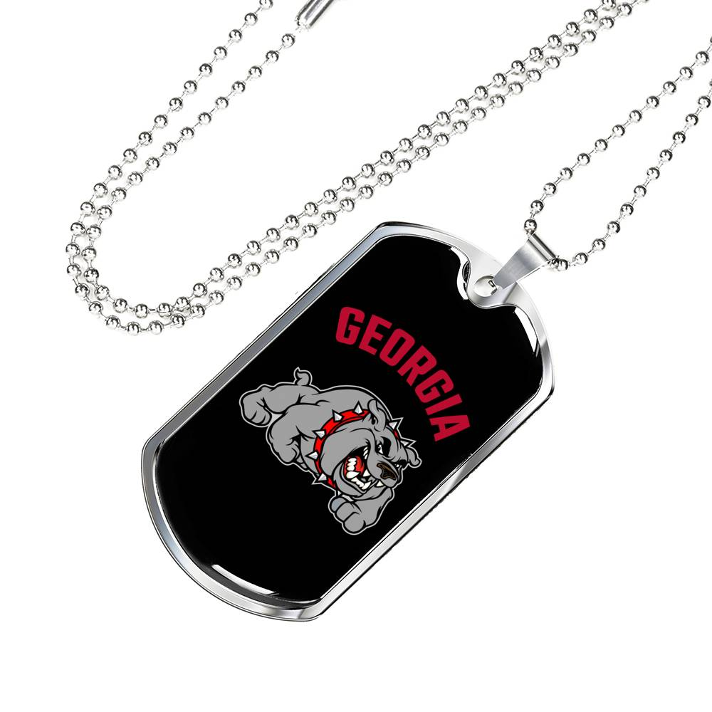 Georgia Badass Bulldog Dog Tag