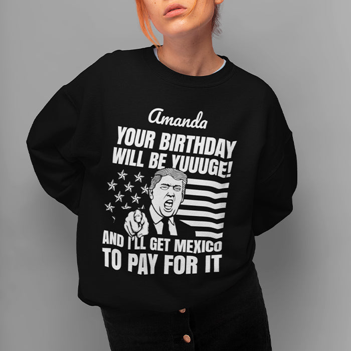Yuuge Black Crewneck Sweat Shirt