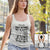 Yuuge White Next Level Women's Racerback Tank