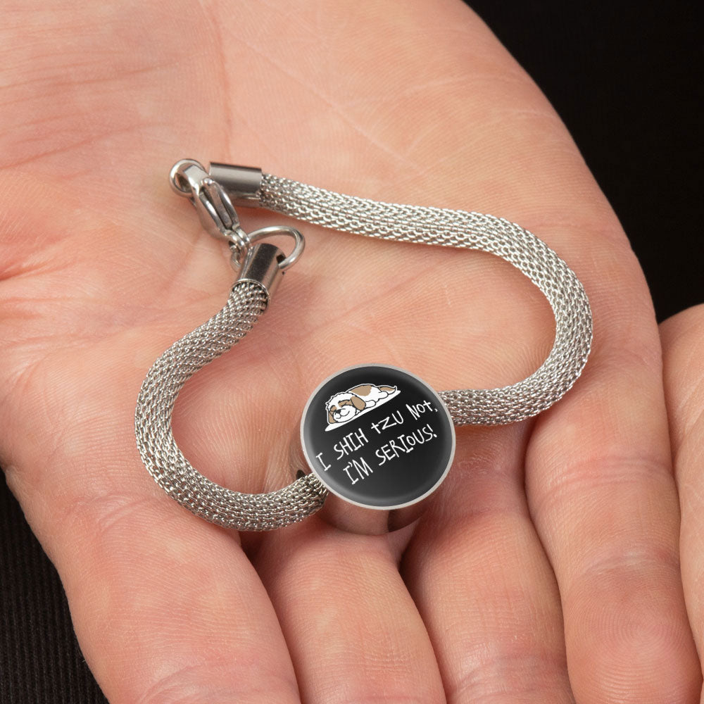 Shih Tzu Not Snake Bracelet With Pendant