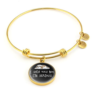 Shih Tzu Not Bracelet With Pendant