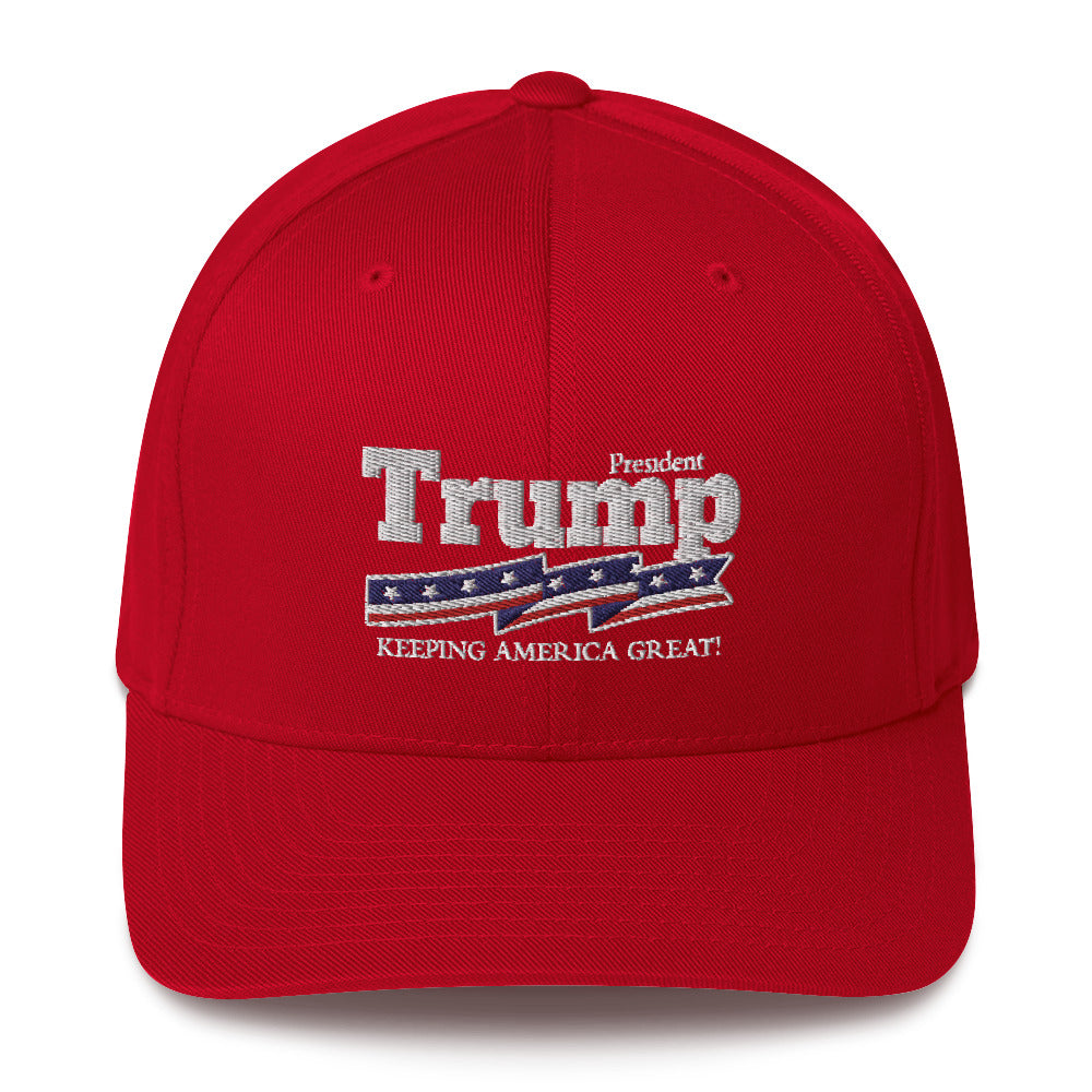 President Trump Keeping America Great Structured Twill Cap