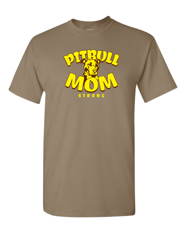 Pit Bull Mom Strong Adult Unisex T-Shirt