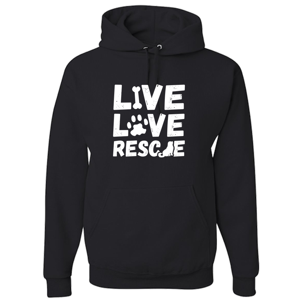 Live Love Rescue Adult Hoodie