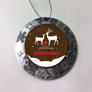 Personalized Loving Buck And Doe First Christmas Ornament