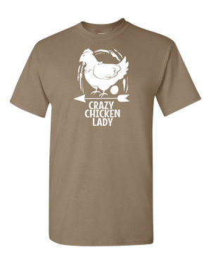 Crazy Chicken Lady Adult Unisex T-Shirt