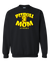 Pit Bull Mom Strong Adult Crewneck Sweat Shirt